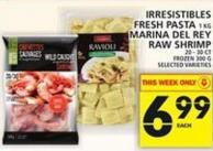 Irresistibles Fresh Pasta Or Marina Del Rey Raw Shrimp