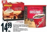 Tim Hortons Ground Coffee 640 - 930 G Or Folgers K-cup Coffee Capsules 30 Un