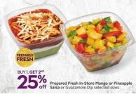 Prepared Fresh In-store Mango or Pineapple Salsa or Guacamole Dip