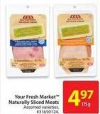 Your Fresh Market Naturally Sliced Meats