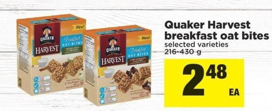Quaker Harvest Breakfast Oat Bites - 216-430 g