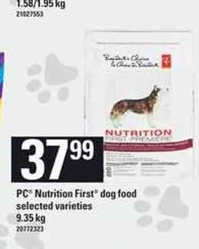 PC Nutrition First Dog Food - 9.35 Kg