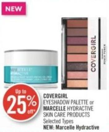 Covergirl Eyeshadow Palette or Marcelle Hydractive Skin Care Products