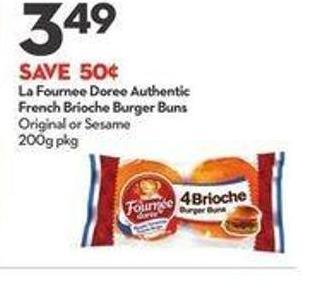 La Fournee Doree Authentic French Brioche Burger Buns