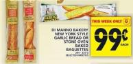 Di Manno Bakery New York Style Garlic Bread Or Stone Oven Baked Baguettes