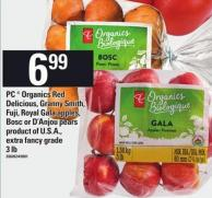 PC Organics Red Delicious - Granny Smith - Fuji - Royal Gala Apples - Bosc Or D'anjou Pears - 3 Lb