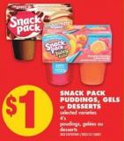 Snack Pack Puddings - Gels Or Desserts - 4's