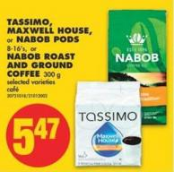 Tassimo - Maxwell House - Or Nabob PODS - 8-16's - Or Nabob Roast And Ground Coffee - 300 G