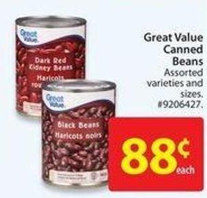 Great Value Canned Beans