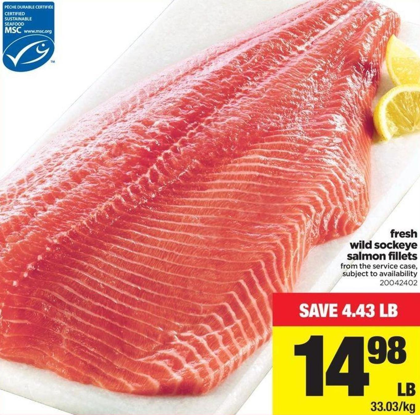 Fresh Wild Sockeye Salmon Fillets