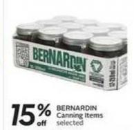 Bernardin Canning Items