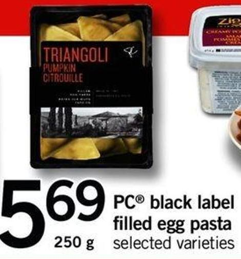 PC Black Label Filled Egg Pasta - 250 G