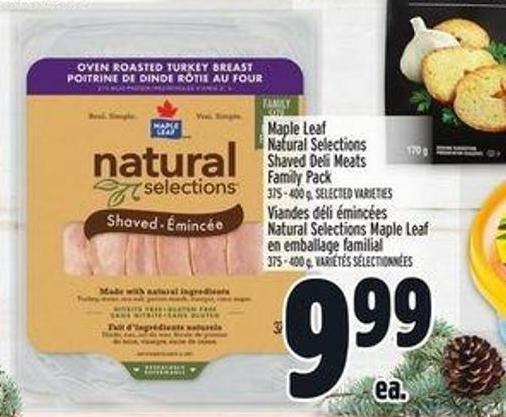 Maple Leaf Natural Selections Shaved Deli Meats