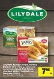 Lilydale Turkey Strips - Turkey Burger - 550-700 g - Janes Pub Style Chicken Strips - Nuggets Or Burgers - 700 g