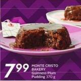 Monte Cristo Bakery Guinness Plum Pudding