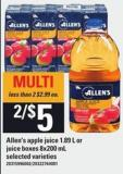 Allen's Apple Juice - 1.89 L Or Juice Boxes - 8x200 mL