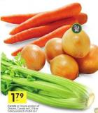 Carrots or Onions Product of Ontario - Canada No 1 - 2 Lb or Celery Product of USA No 1