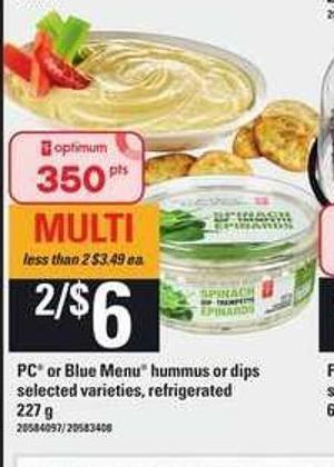 PC Or Blue Menu Hummus Or Dips - 227 g