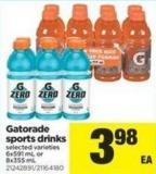 Gatorade Sports Drinks - 6x591 mL or 8x355 mL
