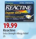 Reactine Extra Strength Allergy Relief 25