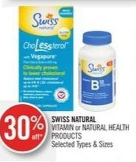 Swiss Natural Vitamin or Natural Health Products