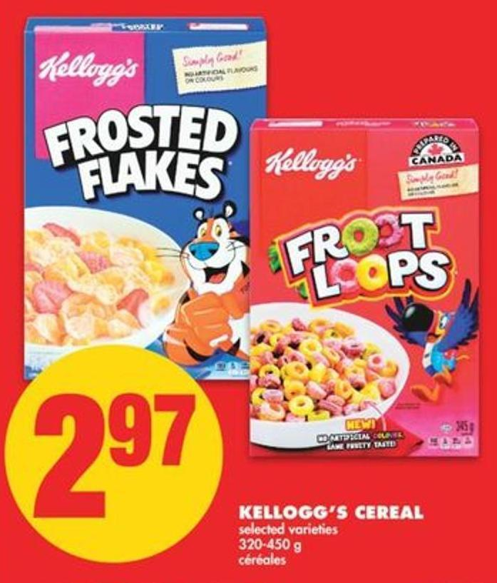 Kellogg's Cereal - 320-450 G
