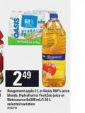 Rougemont Apple - 2 L Or Oasis 100% Juice Blends - Hydrafruit Or Fruitzoo Juice Or Nutrisource - 8x200 Ml/1.36 L