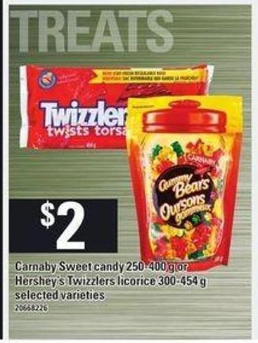Carnaby Sweet Candy - 250-400 G Or Hershey's Twizzlers Licorice - 300-454 G