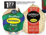 Butterball Seasoned - Stuffed or Naturally Inspired Raised Without Antibiotics Frozen Turkey