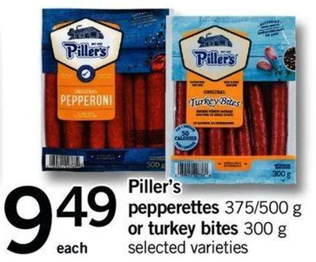 Piller's Pepperettes - 375/500 G Or Turkey Bites - 300 G