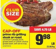 Prime Rib Grilling Steak Or Roast