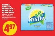 Nestea Iced Tea - Fruitopia or Peace Tea Beverages - 12 X 341/355 mL