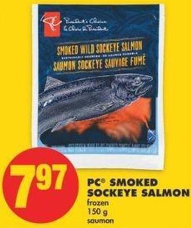 PC Smoked Sockeye Salmon - 150 G