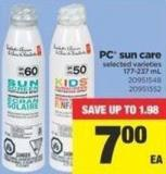 PC Sun Care - 177-237 mL
