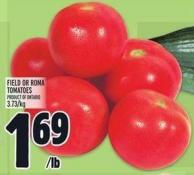 Field Or Roma Tomatoes Product Of Ontario