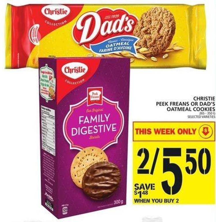 Christie Peek Freans Or Dad's Oatmeal Cookies