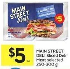 Main Street Deli Sliced Deli Meat Selected 250-300 g