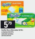 Swiffer Dry Or Wet Cloths 12/16's Or Dusters Kit 2/5's