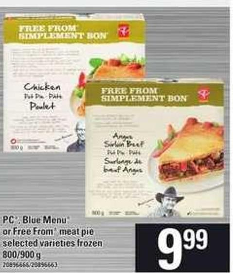 PC - Blue Menu Or Free From Meat Pie - 800-900 G