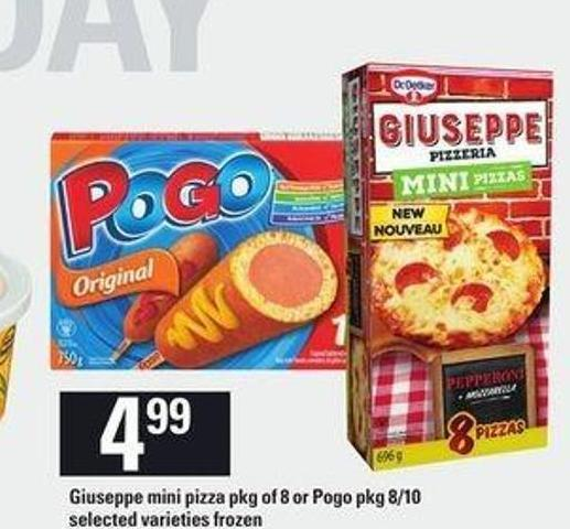 Giuseppe Mini Pizza Pkg Of 8 Or Pogo Pkg 8/10