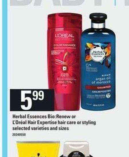 Herbal Essences Bio:renew Or L'oréal Hair Expertise Hair Care Or Styling