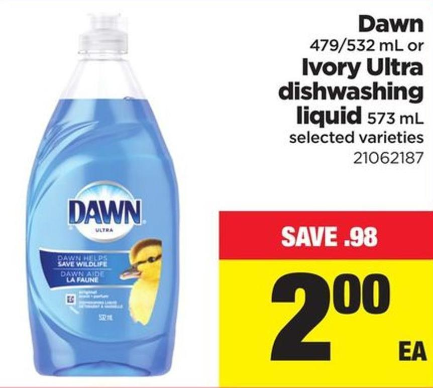 Dawn - 479/532 Ml Or Ivory Ultra Dishwashing Liquid - 573 Ml