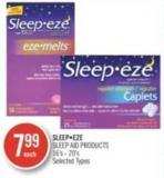 Sleepeze Sleep Aid Products 16's - 20's