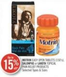 Motrin Easy Open Tablets (150's) - Salonpas or Lakota Topical Pain Relief Products
