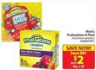 Mott's Fruitsations 4-pack