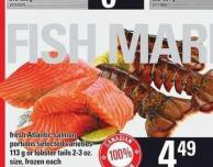 Fresh Atlantic Salmon Portions - 113 G Or Lobster Tails - 2-3 Oz.