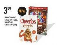 Select Cheerios Cereals - 309-450 G - Select Child Cereals - 300-380 G