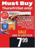 Swiss Chalet Pork Back Ribs Or Montana's Pork Back Ribs - Fully Cooked 600-650 G Or Schneiders Wings Frozen 750 G-1 Kg