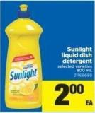 Sunlight Liquid Dish Detergent.800 mL