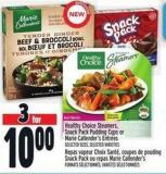 Healthy Choice Steamers - Snack Pack Pudding Cups Or Marie Callender's Entrées